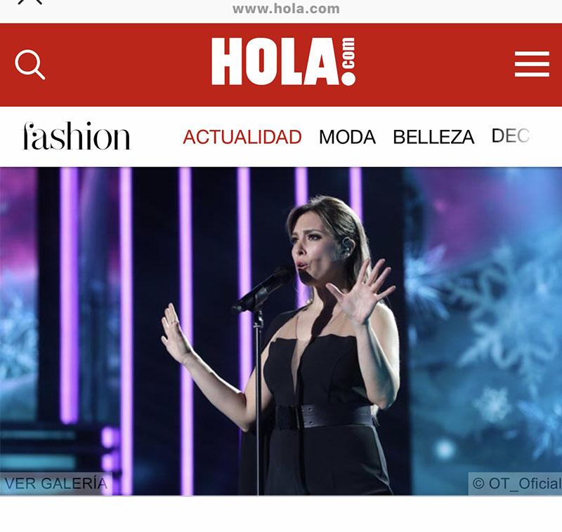 Estilismo para la cantante Gisela para actuación Gala Operación Triunfo